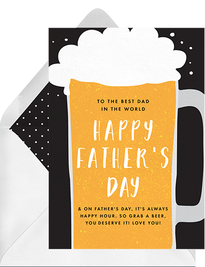 """Grab a Beer"" funny father's day cards from Greenvelope"