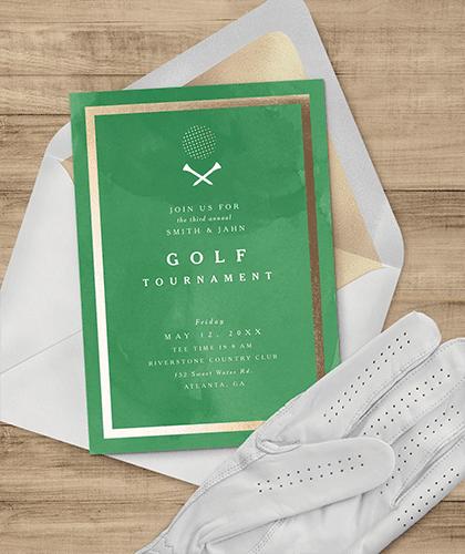 golf tournament digital invite