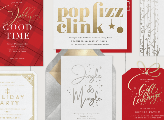 Holiday Party Invitations to Inspire Your End-of-Year Bash