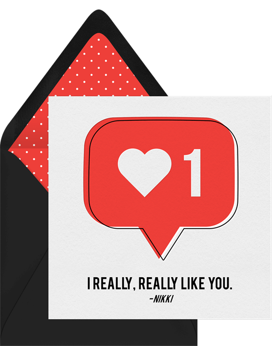 I Like You Punny Valentine's Ecard from Greenvelope