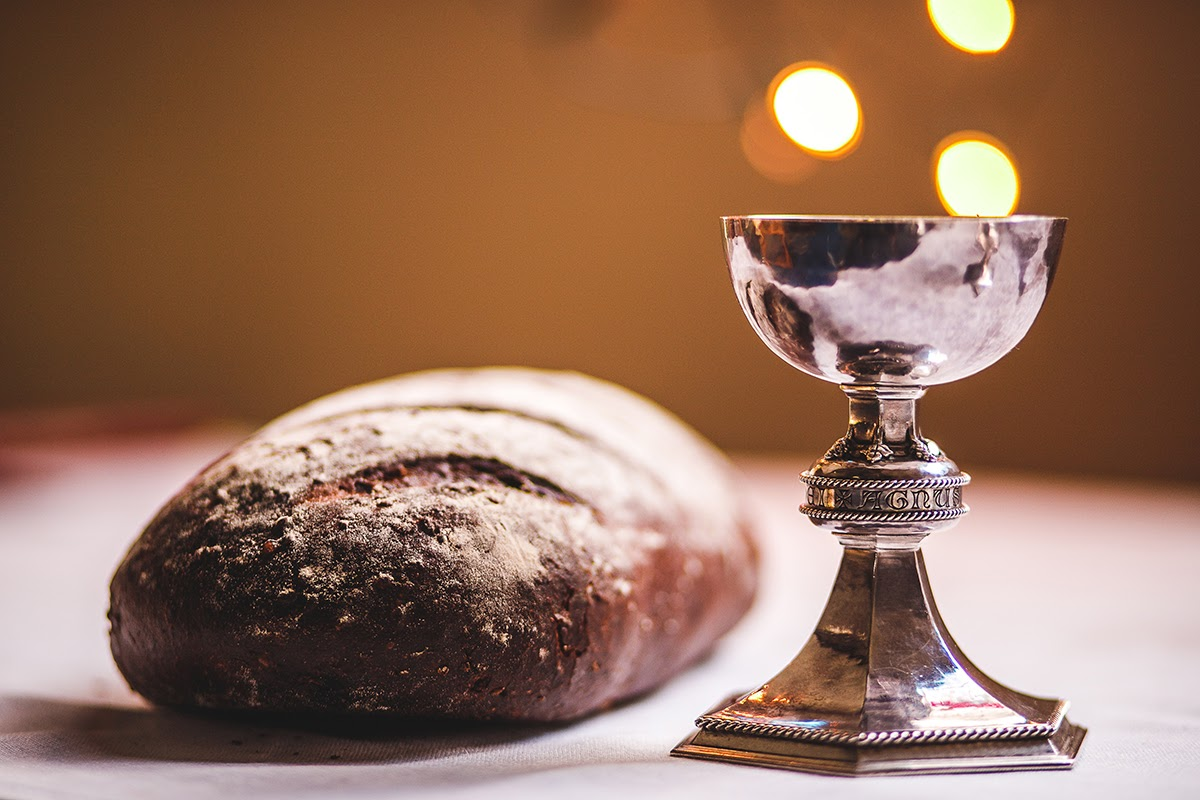 Bread and a chalice from a confirmation