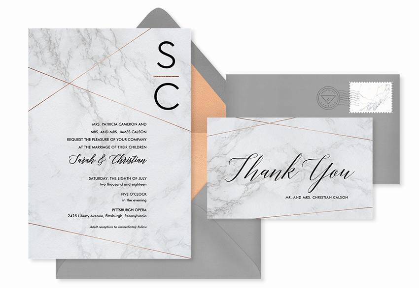 simple marbling invitation template