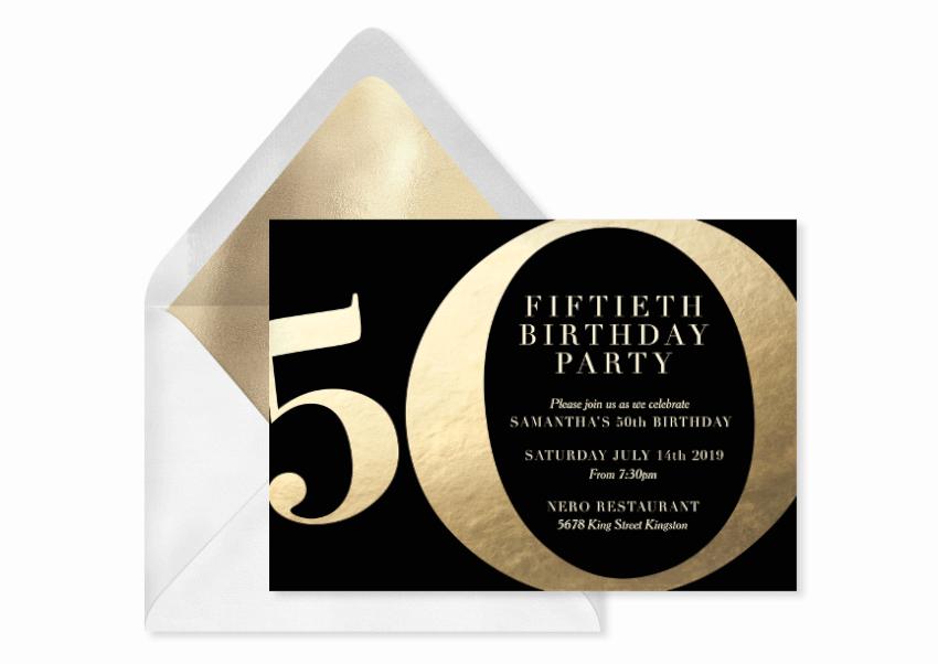 milestone 50 birthday invitation