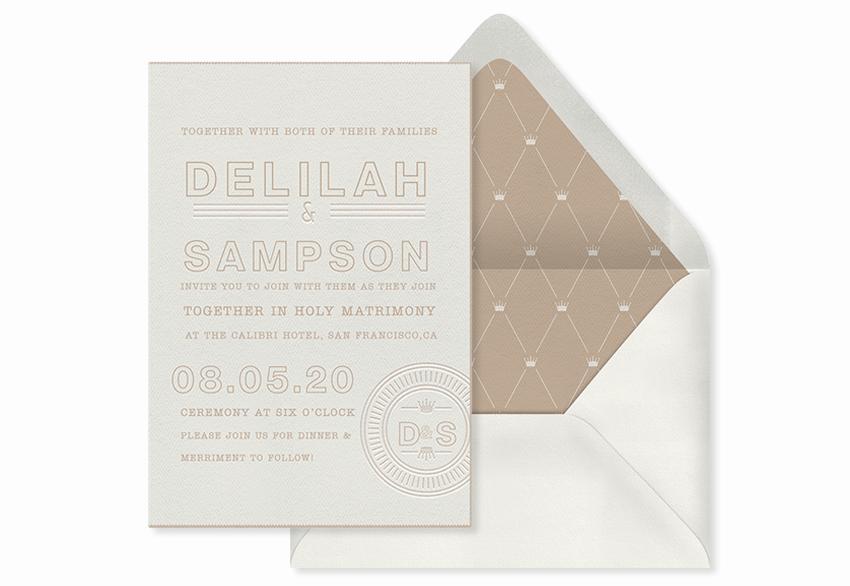 minimalist monogram invitation template