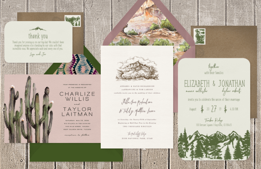 15 National Park Invitations that are Sure to Impress