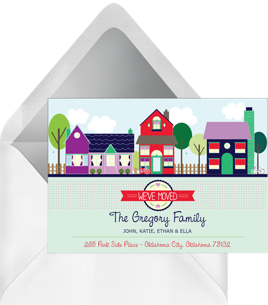 Welcome to the Neighborhood housewarming invitations from Greenvelope