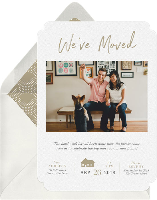 We've Moved housewarming invitations from Greenvelope