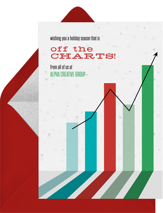Off the Charts business Christmas cards from Greenvelope