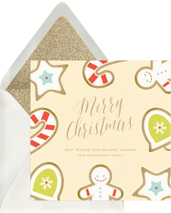 The unique Christmas card design: Cute Christmas Cookies from Greenvelope