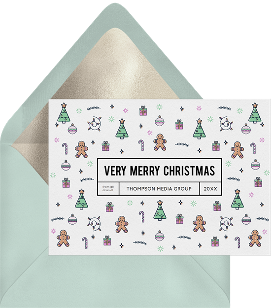 Christmas Icons business holiday cards from Greenvelope