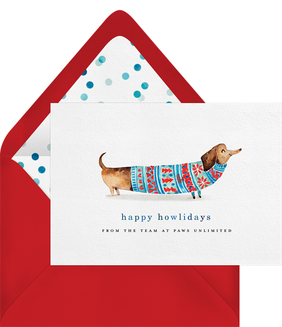 Happy Howlidays business holiday cards from Greenvelope