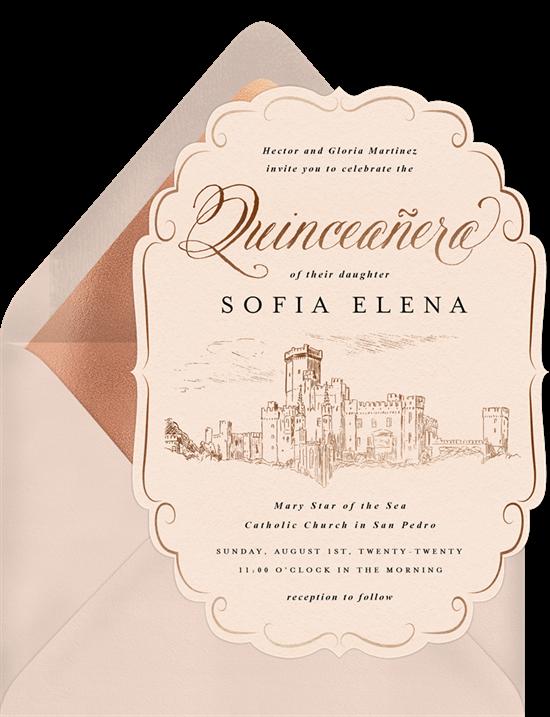 Royal Quinceañera invitations from Greenvelope
