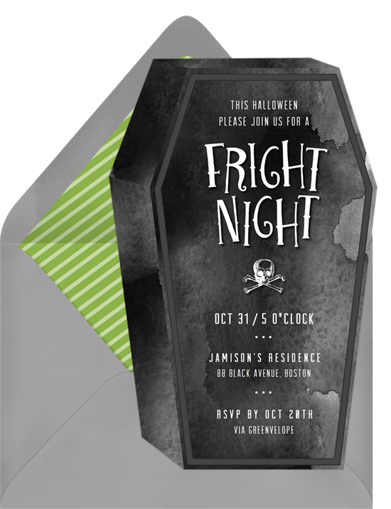 Fright Night Halloween Invitations from Greenvelope