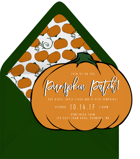 Pumpkin Patch Halloween Invitations from Greenvelope