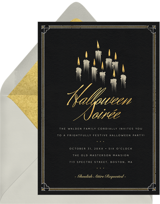 Flickering Flame Halloween Invitations from Greenvelope