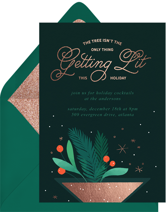 Getting Lit: Christmas party invitations