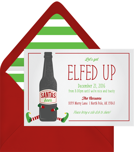 Elfed Up: Christmas party invitations