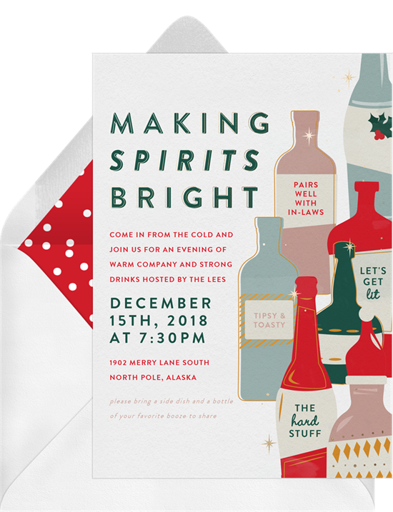 Making spirits bright: Christmas party invitations