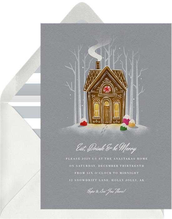 Eat, Drink & Be Merry: Christmas party invitations
