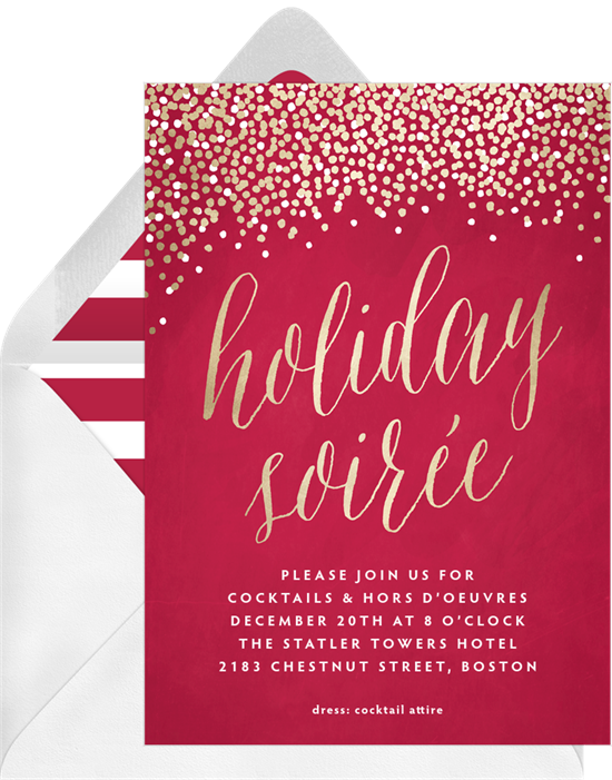 Holiday Soiree: Christmas party invitations