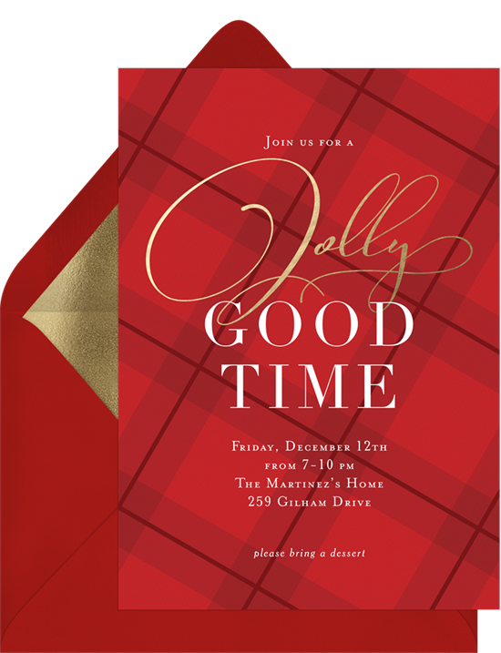 Jolly Good Time: Christmas party invitations