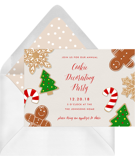 Cookie Decorating Party: Christmas party invitations