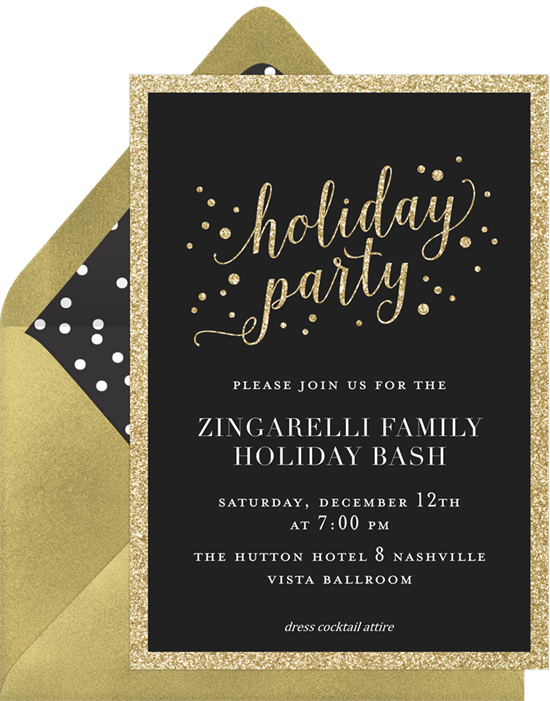 Holiday Party: Christmas party invitations