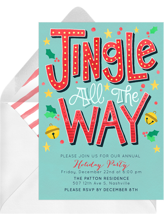 Jingle All The Way: Christmas party invitations