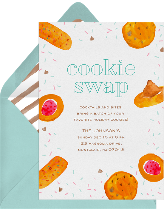 Cookie Swap: Christmas party invitations