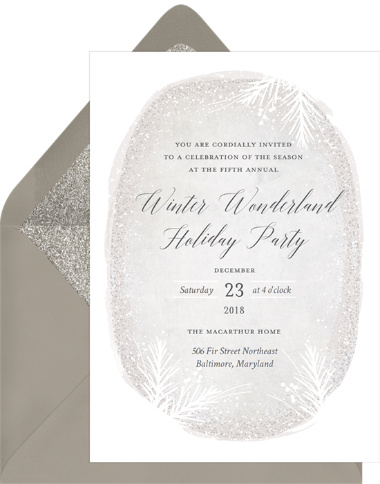 Winter Wonderland Holiday Party: Christmas party invitations