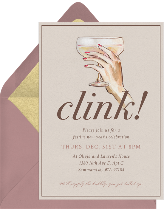 Champagne Coupe Invitation by Greenvelope