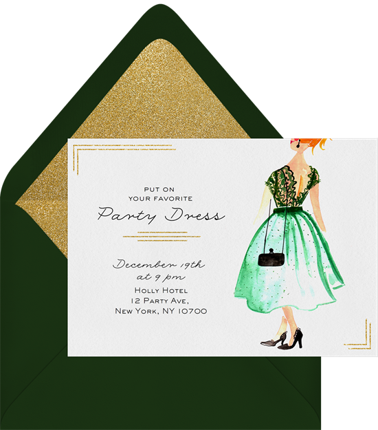Party Dress Invitation