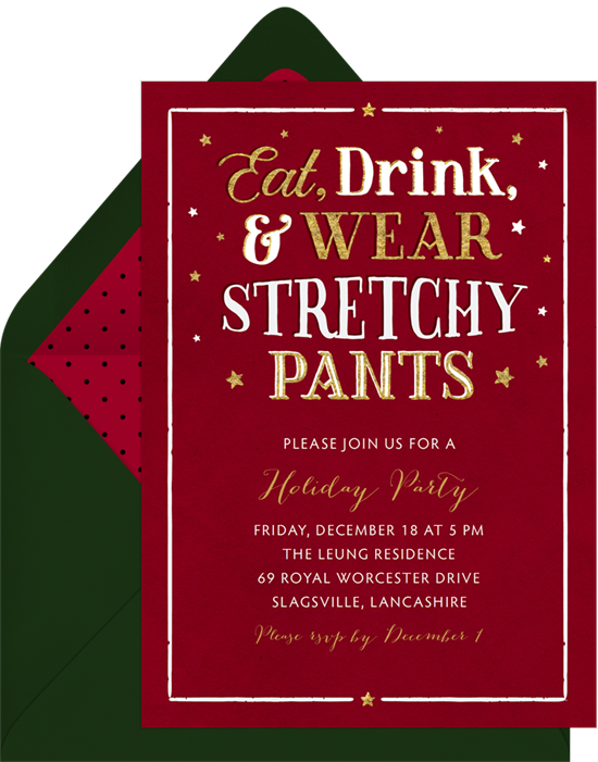 Holiday humor invitation