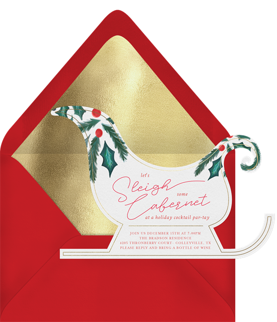 Sleigh Some Cabernet Invitation