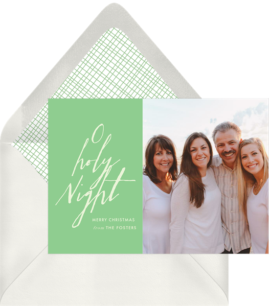 Christmas card ideas: Oh Holy Night Card from Greenvelope