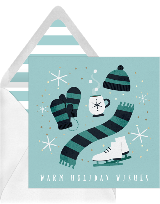 Christmas card ideas: Snow Day Classics Card from Greenvelope
