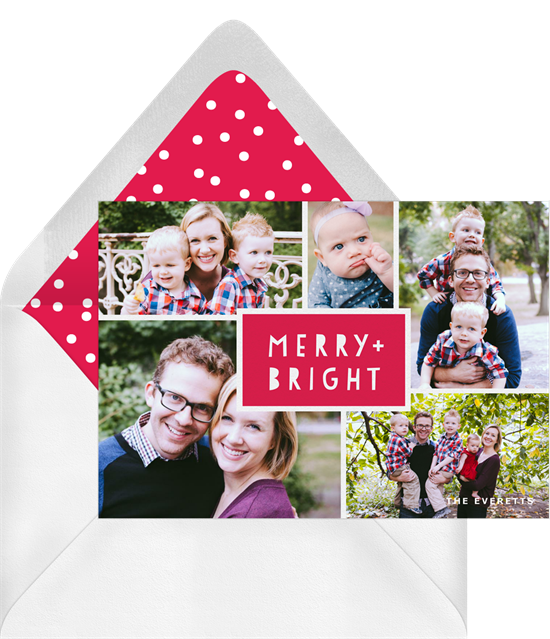 Christmas card ideas: Merry Montage Card from Greenvelope