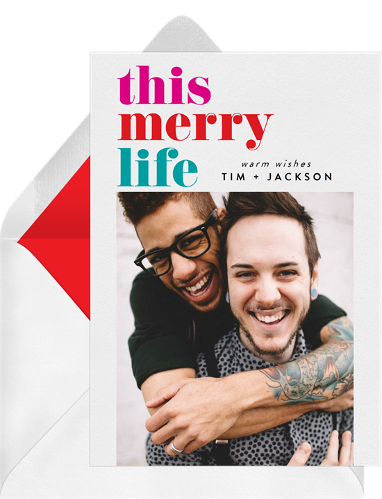 Christmas card ideas: This Merry Life Card from Greenvelope