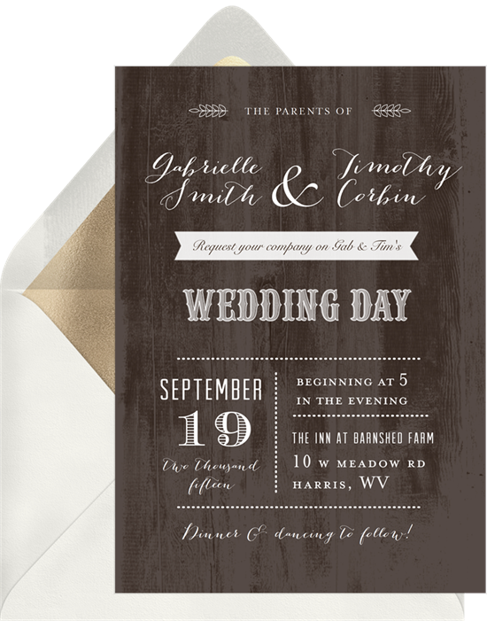 20 Rustic Wedding Invitations For Your