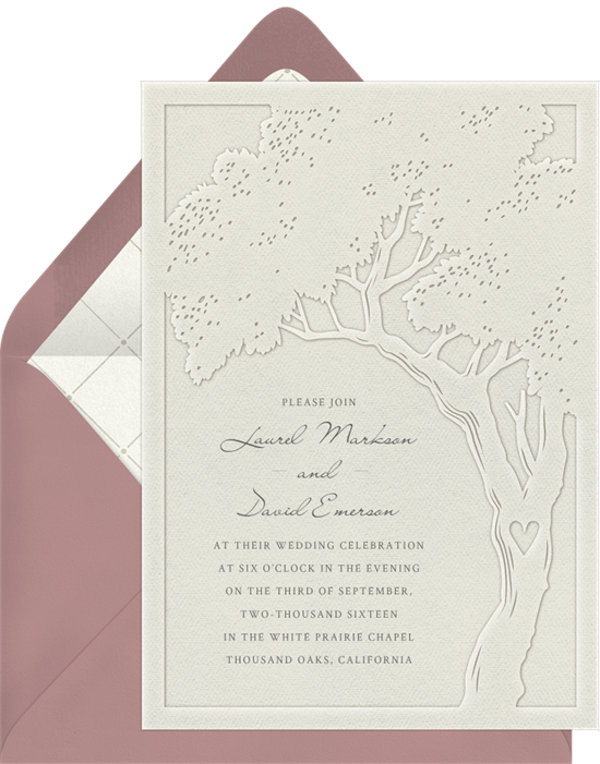 Tree of Life Rustic Wedding Invitations from Greenvelope
