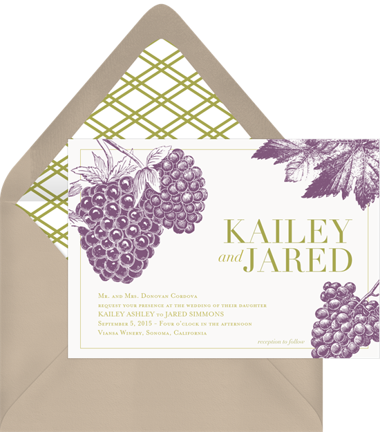 Vineyard Vows Rustic Wedding Invitations from Greenvelope