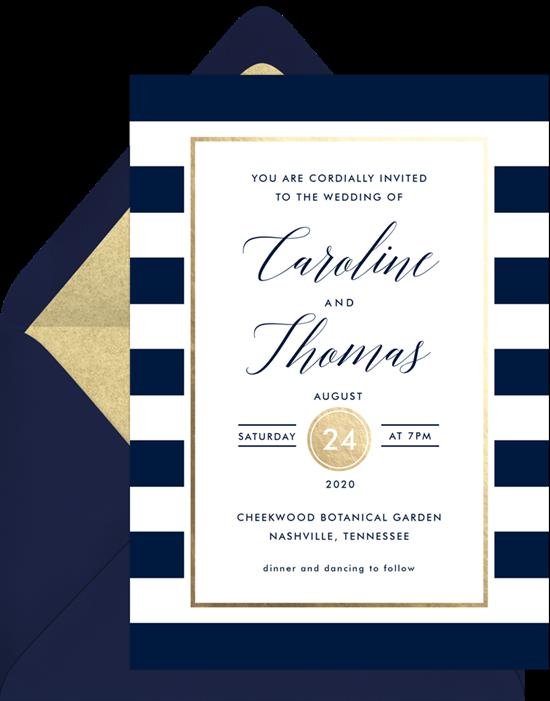 Wedding invitation ideas: An online invitation with calligraphy script