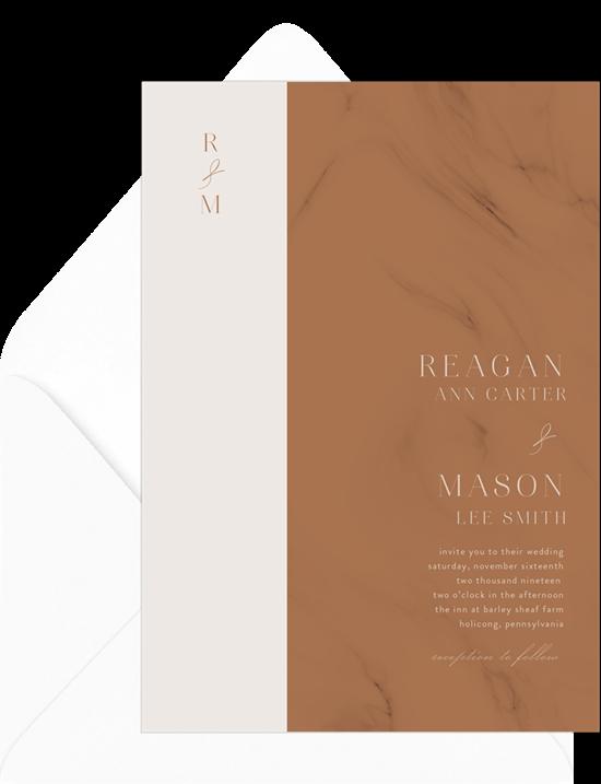 Wedding invitation ideas: a marble invitation design