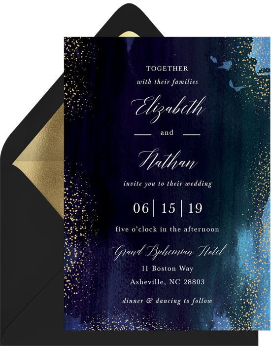 Wedding invitation ideas: a watercolor invitation