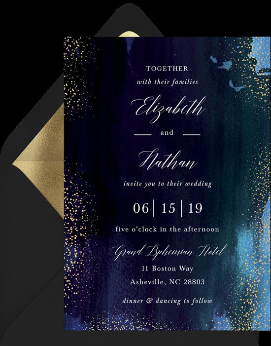 Wedding invitation ideas: a watercolor invitation