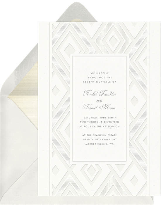 Wedding invitation ideas: an online laser-cut invitation design