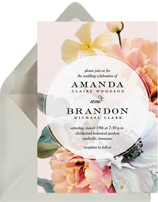 Wedding invitation ideas: a floral invitation design