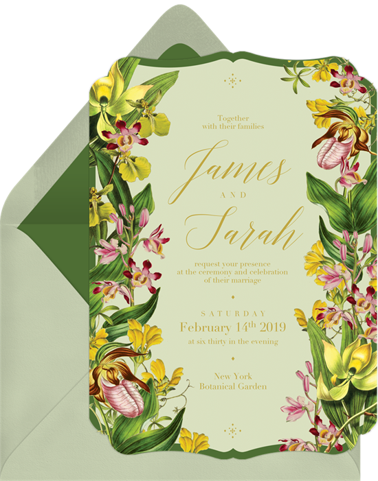 Wedding invitation ideas: a die-cut online invitation design