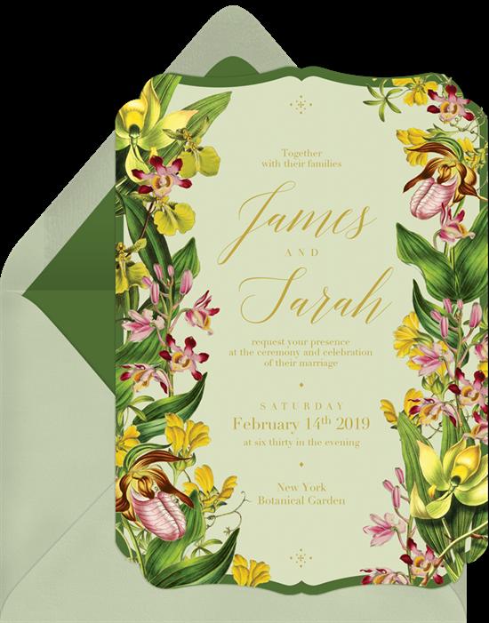Wedding invitation ideas: a die-cut online invitation design