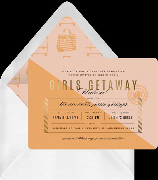 Girls Getaway Family Reunion Invitations